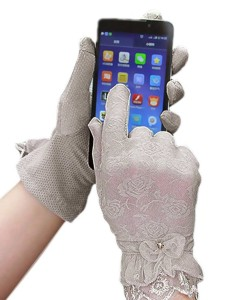 phone with gloves entering